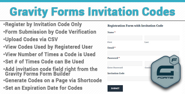 Download Nulled Gravity Forms Invitation Codes Free v3 0