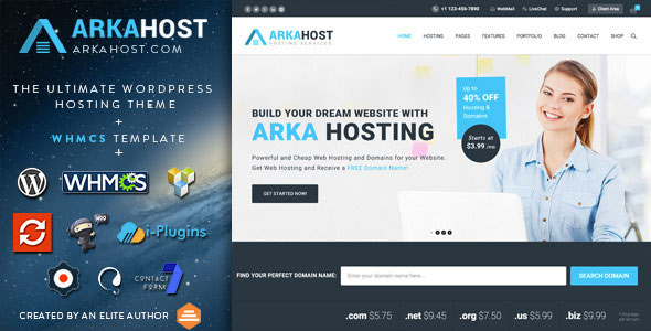 Download Nulled Arka Host Free v5.1.5 - Freethemes.space