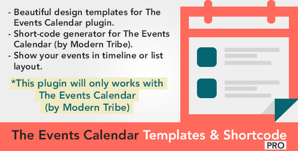 Download Nulled The Events Calendar Shortcode & Templates