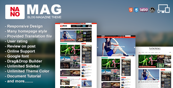 Download Nulled NanoMag Free v1 7 - Freethemes space