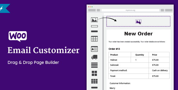 Download Nulled Woo Email Customizer with Drag and Drop